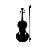 FIDDLE Vinyl Decal Sticker - Violin - Bow - Bluegrass Country Music