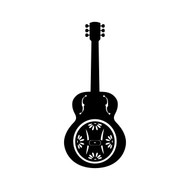 "DOBRO 5"" or 10"" Vinyl Decal Sticker - Guitar - Bluegrass Country Music"