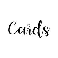 CARDS -V1- Vinyl Sticker - Wedding Gifts Box Label - Die Cut Decal