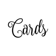 "CARDS 5"" x 2.5"" Vinyl Decal Sticker - V2 - Wedding Gifts Box Label"