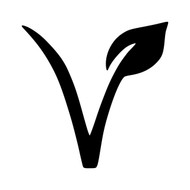 "V VEGAN LEAF 2"" or 5"" Vinyl Decal Sticker - Veganism Plant Based Healthy"