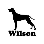 WEIMARANER with Personalized Name  - Vinyl Decal Sticker - V1 - Gray Ghost Dog