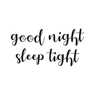 "Good Night, Sleep Tight 10"" x 5"" Vinyl Decal Sticker - Nursery Crib Wall Decor"