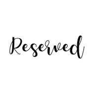 "Reserved  7"" x 2.5"" - V2 - Vinyl Decal Sticker - Wedding Table"