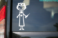 "Female Nurse - Candy Striper - EMT - Vinyl Decal Sticker - 4.5"" x 2.5"""
