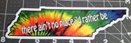 """Tennessee Jed Grateful Dead 7.25"""" x 2""""  Die Cut Sticker - Tie Dye Vinyl - State TN"""
