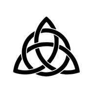 CELTIC TREFOIL KNOT Vinyl Decal Sticker - Irish Ireland Trinity Celt