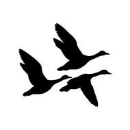 FLYING GEESE Vinyl Decal Sticker - Waterfowl Bird Canada Geese