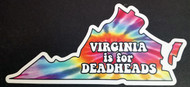 "Virginia is for Deadheads 6.5"" x 3"" Die Cut Decal - The Grateful Dead Tie Dye Jerry Garcia"