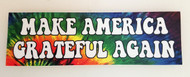 "MAKE AMERICA GRATEFUL AGAIN 8"" x 2.5"" Tie Dye Die Cut Decal - The Grateful Dead Jerry Garcia"