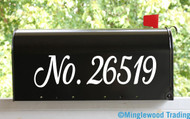 "Custom Text for Mailbox or House - Vinyl Decal Sticker - 1"" to 8"" tall - Numbers Name Address - Kathya"