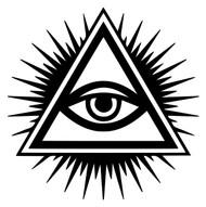 EYE OF PROVIDENCE Vinyl Decal Sticker - All-Seeing Eye of God - Rays of Light
