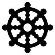 The Wheel of Dharma Vinyl Decal Sticker - Buddhism Dharmachakra Jainism Hinduism