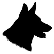 GERMAN SHEPHERD Head Vinyl Decal Sticker - GSD Dog Profile Silhouette