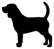 Beagle vinyl die cut decal sticker by Minglewood Trading