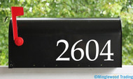 "Custom Text for Mailbox or House - Vinyl Decal Sticker -1"" to 10"" tall - Numbers Name Address - Booka"