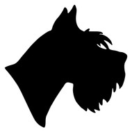 SCHNAUZER Head Vinyl Decal Sticker - Dog Profile Silhouette