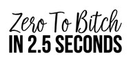 Zero to Bitch in 2.5 Seconds  - Vinyl Decal Sticker