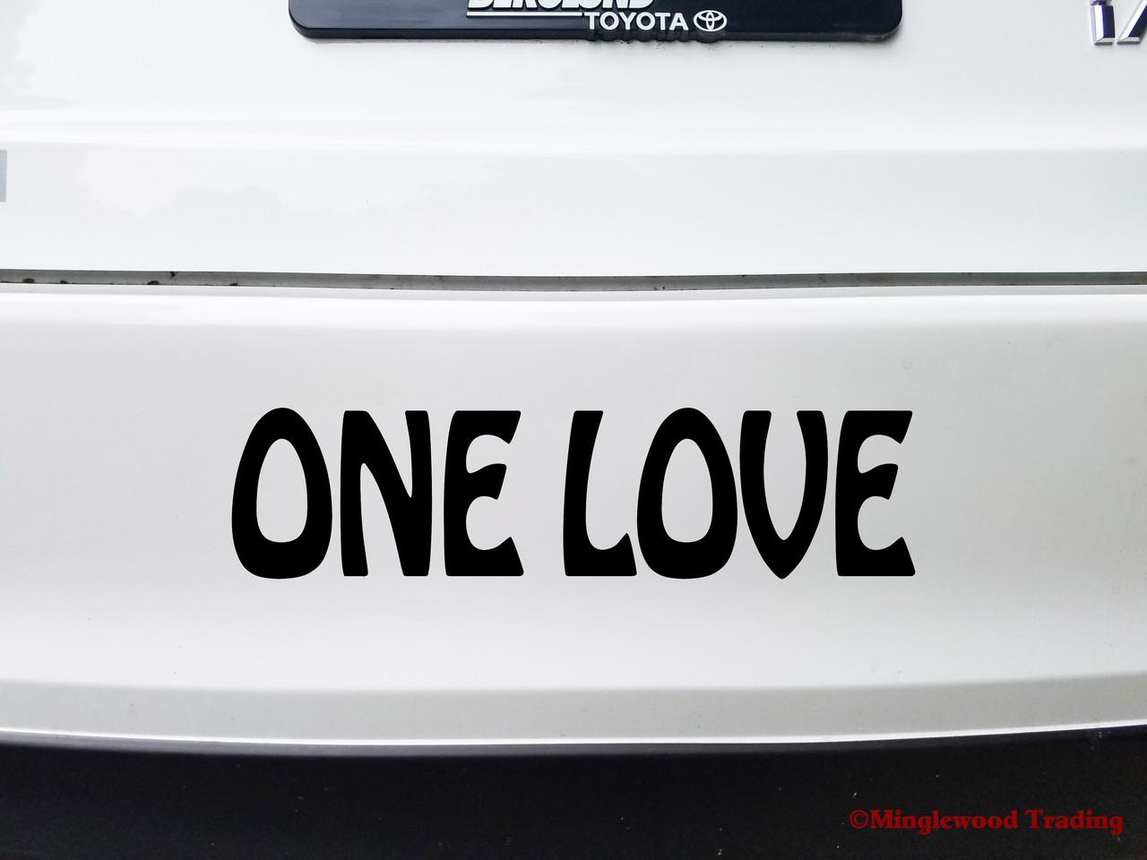 ONE LOVE Vinyl Decal Sticker - Peace Be Kind Imagine Bob Marley Reggae