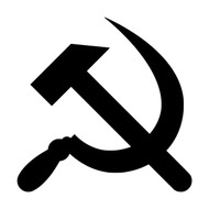 HAMMER AND SICKLE - Vinyl Decal Sticker - Russia Soviet Union Flag