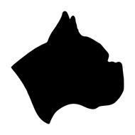 BOXER Dog Head Vinyl Decal Sticker - Puppy Profile Silhouette