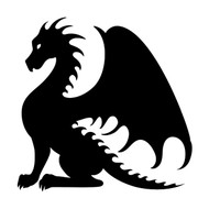 DRAGON Vinyl Decal Sticker - V3- Wyvern Fantasy Folklore Medieval