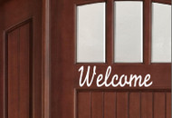 "Welcome - Door Greeting - Vinyl Decal Sticker - 11"" x 2.5"""
