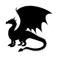 DRAGON Vinyl Decal Sticker -V4- Wyvern Medieval Fantasy Gaming