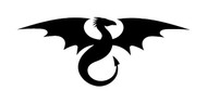 FLYING DRAGON Vinyl Decal Sticker -V3- Wyvern Medieval Fantasy Gaming