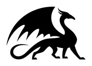 DRAGON Vinyl Decal Sticker -V2- Wyvern Medieval Fantasy Gaming