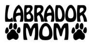 LABRADOR MOM Vinyl Decal Sticker - Dog Paw Prints Chocolate Yellow Black Lab Retriever