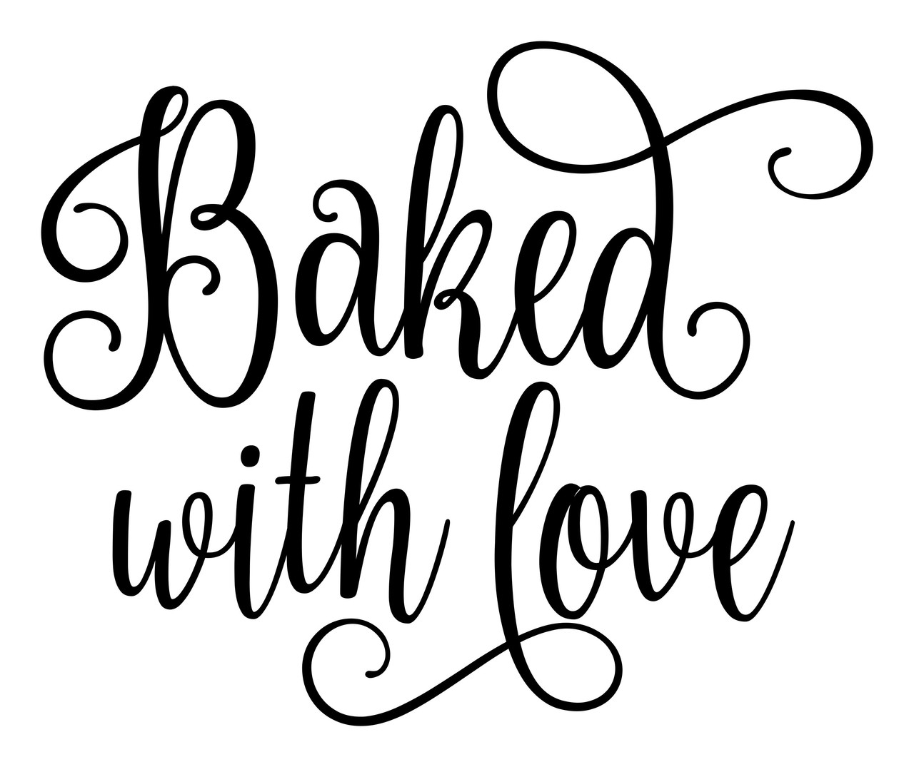 Baked With Love Vinyl Decal Sticker Home Kitchen Decor