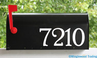"Custom Text for Mailbox or House - Vinyl Sticker - 1"" to 8"" tall - Numbers Name Address - Die Cut Decal - PR"