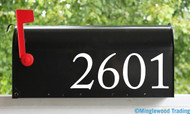 "Custom Text for Mailbox or House - Vinyl  Sticker - 1"" to 8"" tall - Numbers Name Address - Die Cut Decal - ACP"