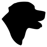 Labrador Retriever Head Vinyl Decal Sticker -  Dog Profile Silhouette Black Yellow Chocolate
