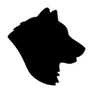 SIBERIAN HUSKY Head -V2- Vinyl Decal Sticker -  Dog Profile Silhouette Black Yellow Alaskan Malamute