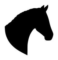 Horse Head -V1- Vinyl Decal Sticker - Equestrian Farm Riding Dressage Equine Profile Silhouette