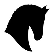 Horse Head -V5- Vinyl Decal Sticker - Equestrian Farm Riding Dressage Equine Profile Silhouette