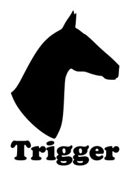 Horse Head -V3- with Personalized Name Vinyl Decal Sticker - Equestrian Farm Riding Dressage Equine Profile Silhouette