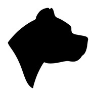 PIT BULL HEAD Vinyl Decal Sticker -  Dog Profile Silhouette Pitbull Pittie Terrier Amstaff
