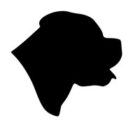 ROTTWEILER HEAD Vinyl Decal Sticker -  Dog Profile Silhouette Rottie Puppy