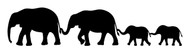ELEPHANT FAMILY - Vinyl Decal Sticker - Family of 4 Kids Parents Mom Dad Children
