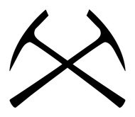CROSSED PICKAXES  Vinyl Decal Sticker - Mining Pick Axes - Geology