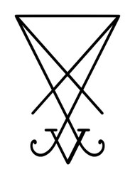 SIGIL OF LUCIFER Vinyl Decal Sticker - Seal of Satan - Truth Power