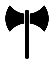 LABRYS Vinyl Decal Sticker - Double Headed Axe Pelekus