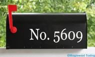 "Mailbox Numbers - Vinyl Decal Sticker - 1"" to 10"" tall - Custom Text for House Address - Name - GEO"