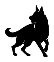 GERMAN SHEPHERD Vinyl Decal Sticker -V3- Dog GSD Puppy Alsatian K9 Canine