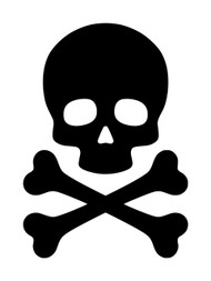 SKULL and CROSSBONES Vinyl Decal Sticker - Death's Head - Skeleton