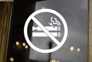 No Smoking or Vaping Sign - Vinyl Decal Sticker - Cigarette Smoke Electronic Vape E-Cig