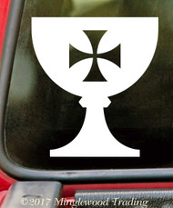 HOLY GRAIL - Vinyl Decal Sticker - Jesus Christ Last Supper Chalice Cup *Free Shipping*